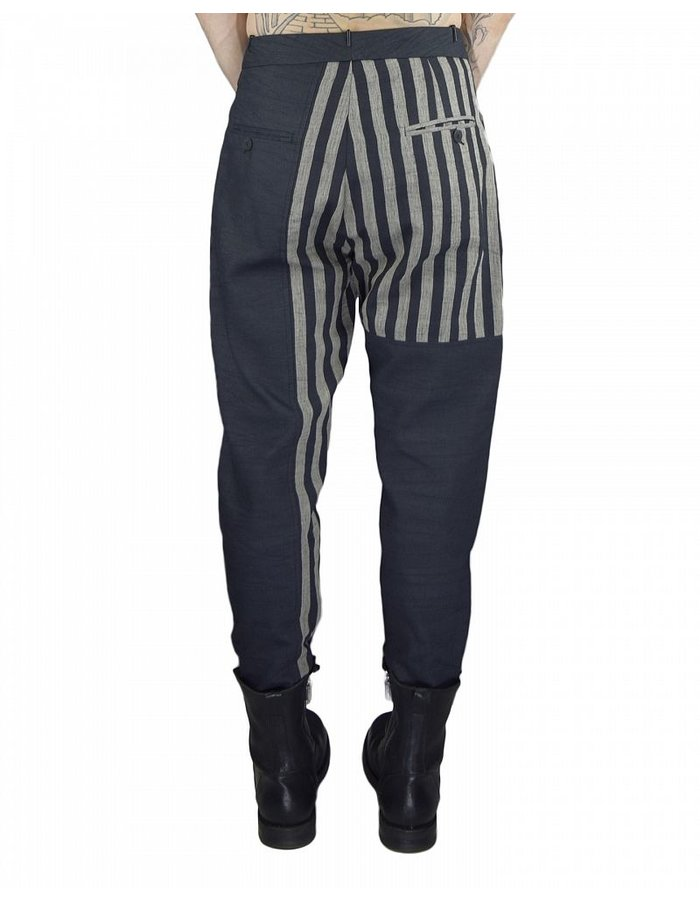 TOM REBL LINEN TROUSER WITH STRIPE PATTERN
