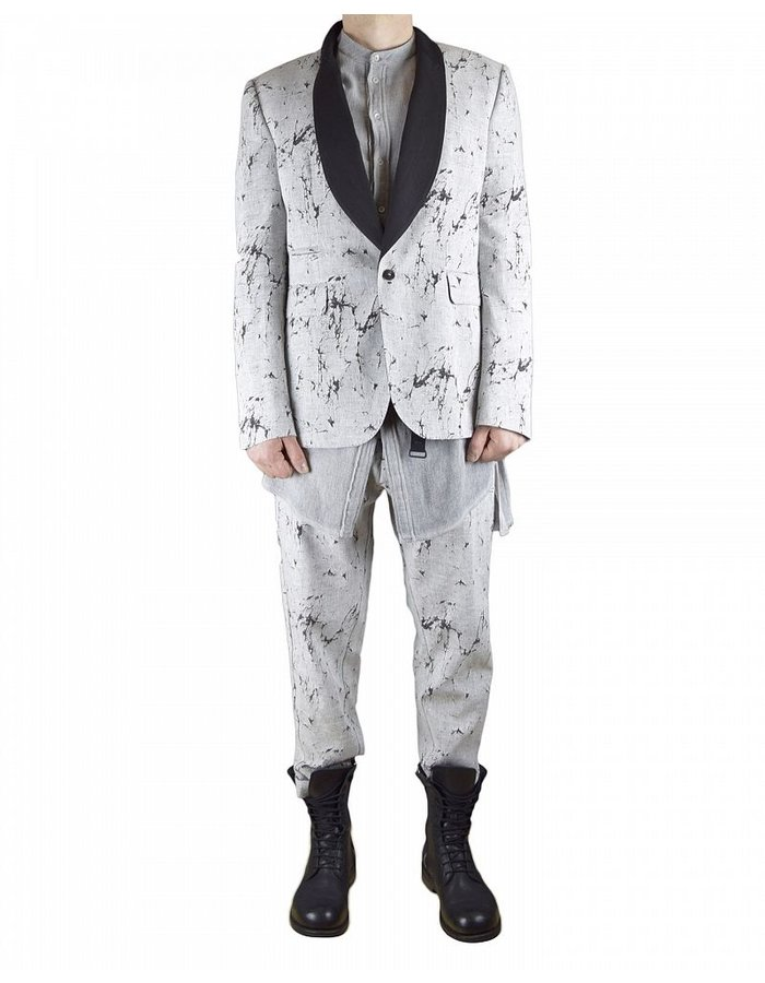 TOM REBL MARBLEIZED LINEN JACKET