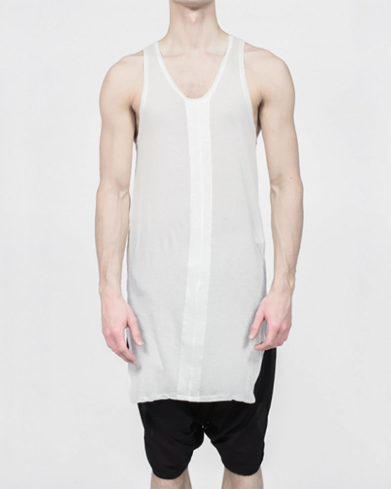 COTTON SILK PANEL TANK