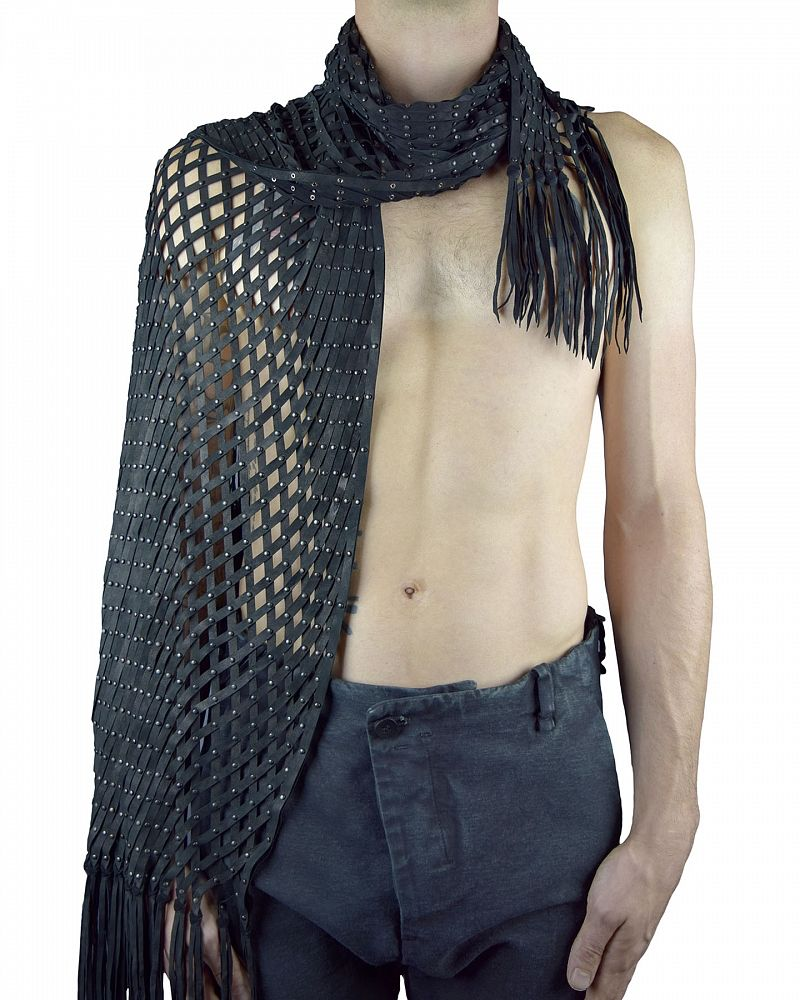 LATTICE LEATHER HAND CUT  SHAWL