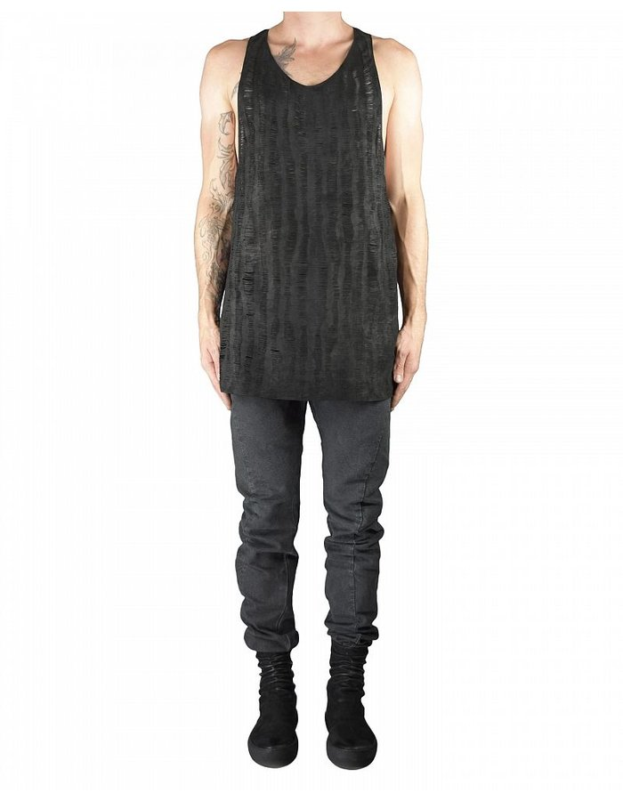 MONARC 1 LEATHER TANK TOP IN SLIT LEATHER