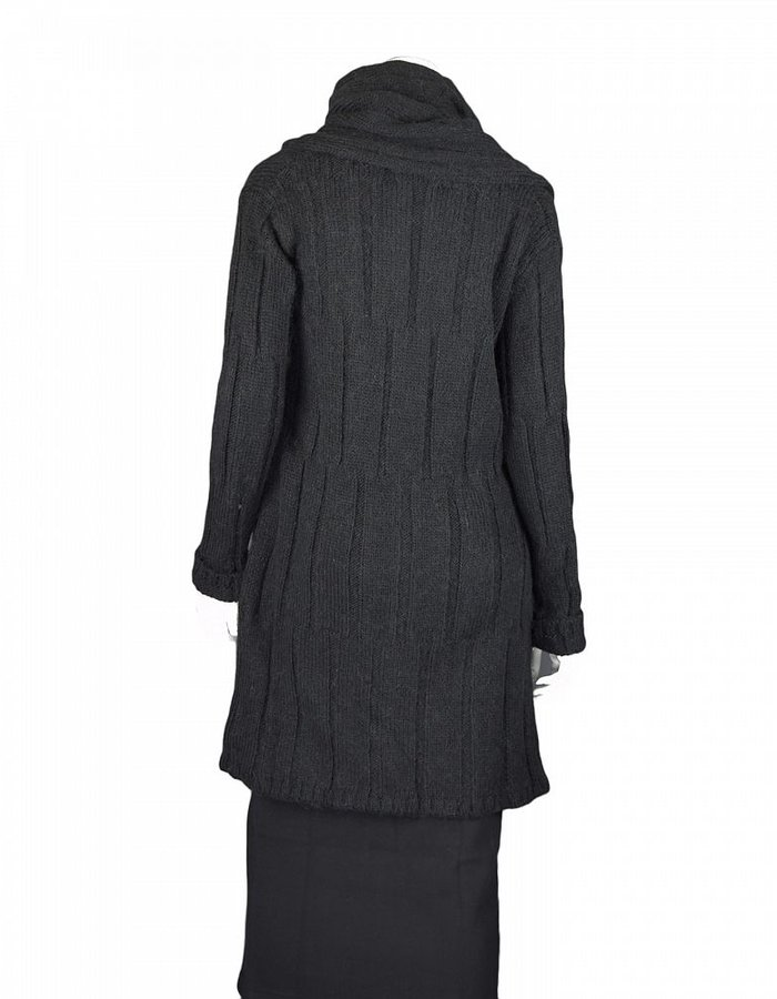 LOST AND FOUND ROOMS CARDIGAN WITH SIDE SLIT