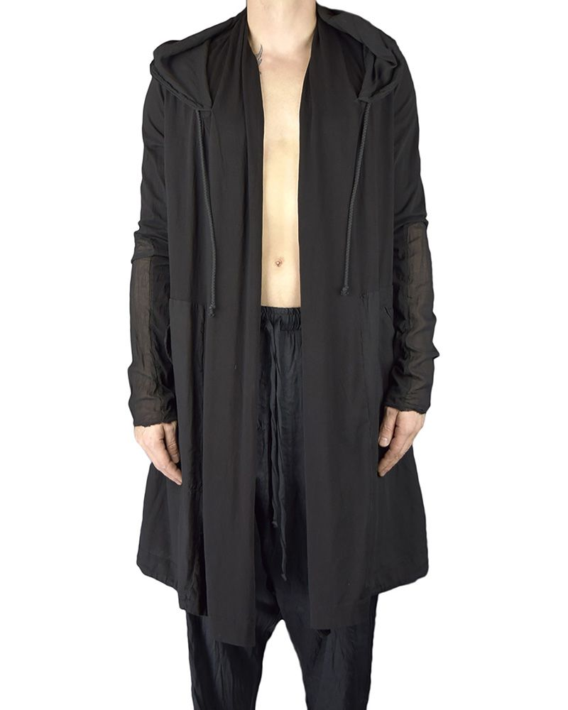 COTTON HOODED PARKA :BLK