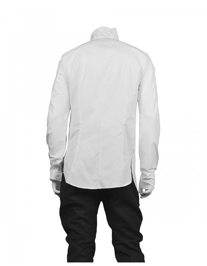 LOST AND FOUND FUNNEL NECK SHIRT -WHITE