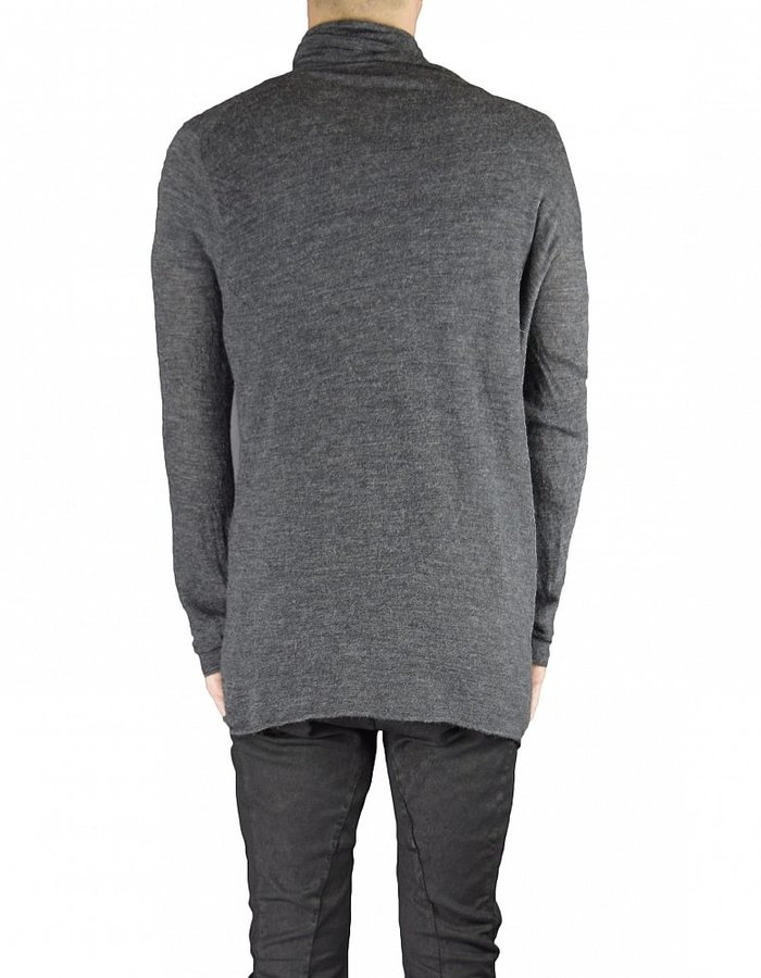 LOST AND FOUND HIGH NECK TOP ANTHRACITE