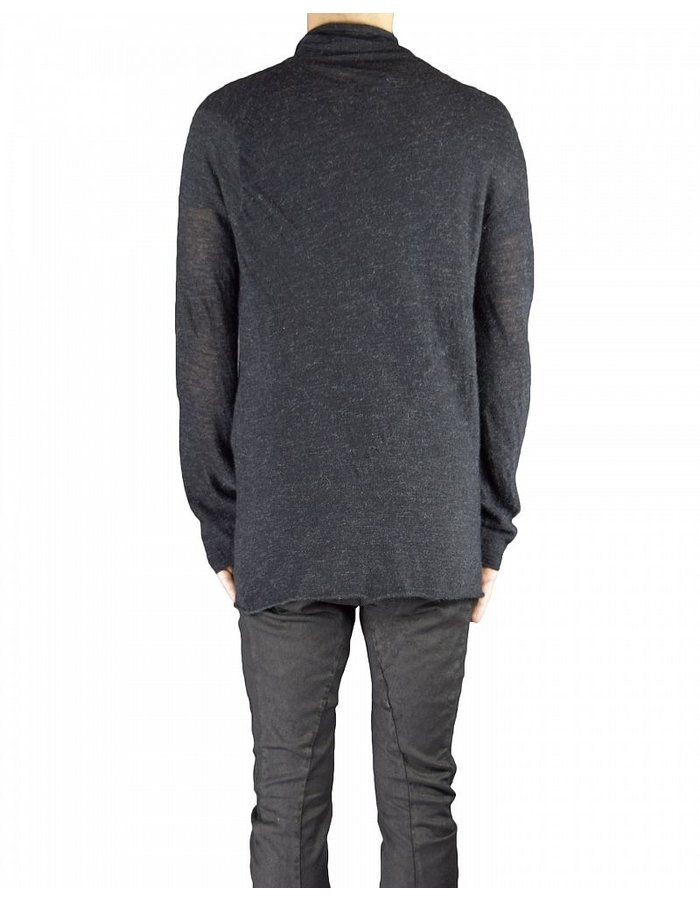 LOST AND FOUND HIGH NECK TOP BLACK