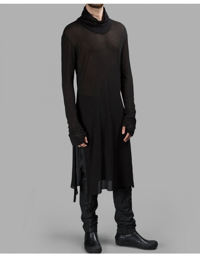 LOST AND FOUND HIGH NECK TUNIC RIBBED