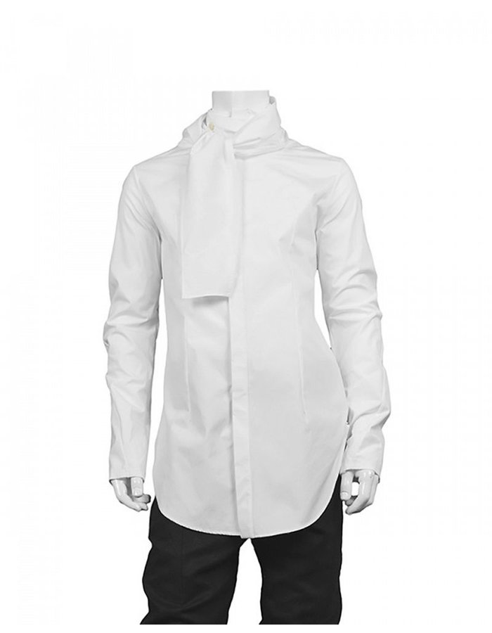 LOST AND FOUND SHIRT WITH SCARF -WHITE