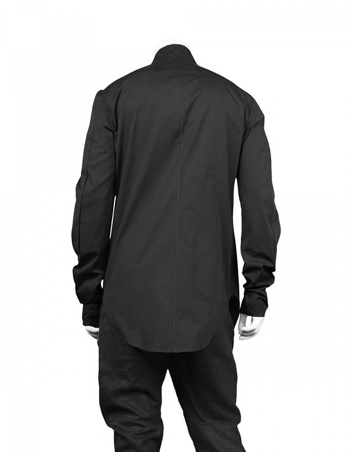 LOST AND FOUND SIDE PLEAT SHIRT - BLACK