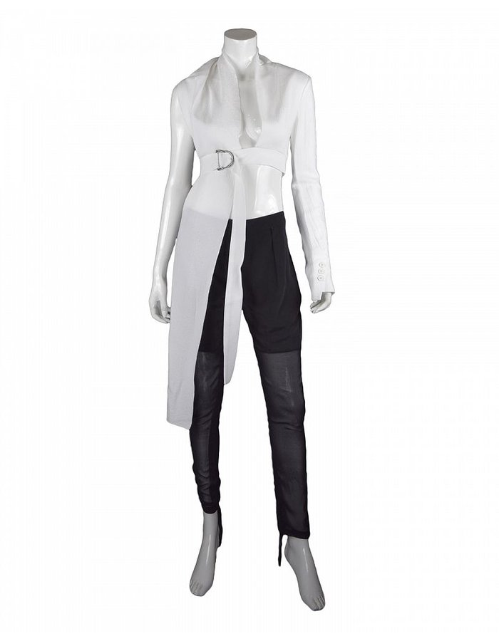 LOST AND FOUND SINGLE SLEEVE TOP WHITE