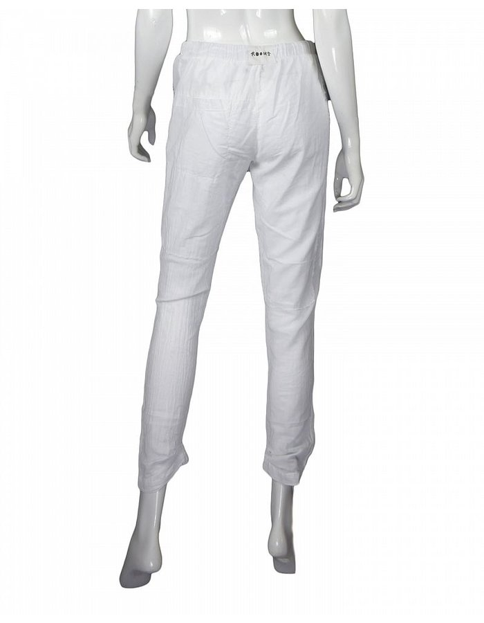 LOST AND FOUND ROOMS WHITE INTARSIA COTTON PANT