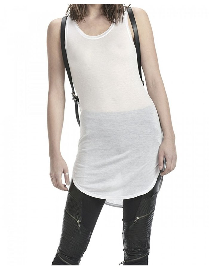 SKINGRAFT LONG TANK TUNIC -WHITE