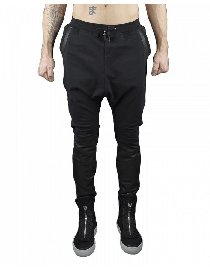 SKINGRAFT SWEAT PANT WITH LEATHER