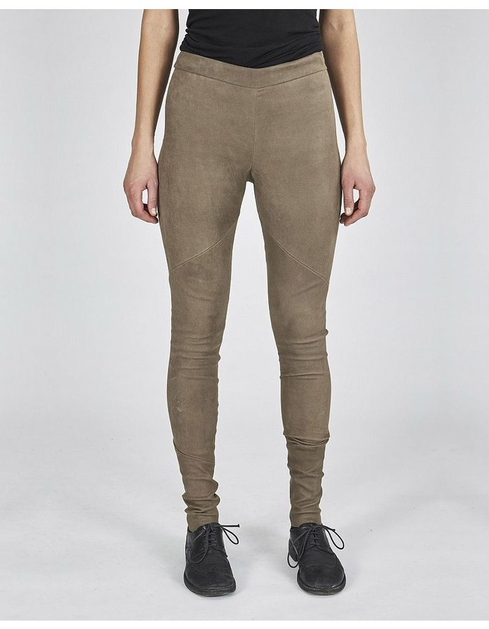 ISABEL BENENATO STRETCH LAMB LEATHER LEGGINGS