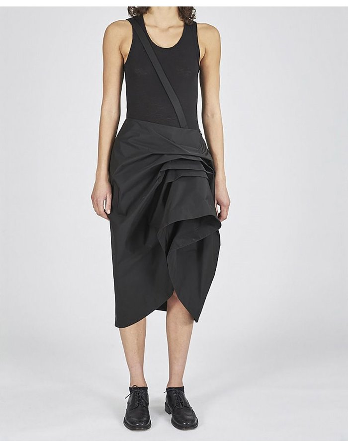 ISABEL BENENATO FOLDED WATERPROOF ASYMMETRIC SKIRT