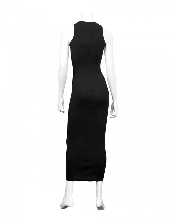 ISABEL BENENATO LONG RIBBED TANK DRESS