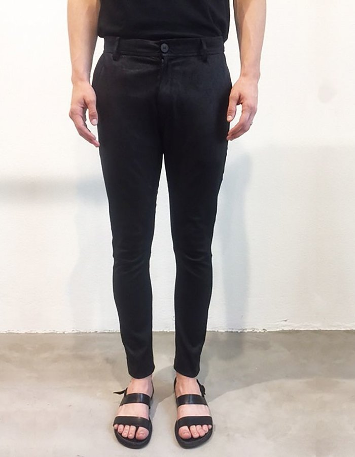 ISABEL BENENATO STRETCHED LEATHER 5 POCKETS TROUSERS