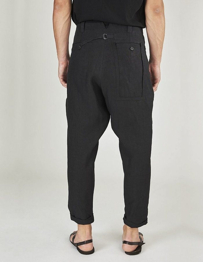 ISABEL BENENATO LOW CROTCH MILITARY TROUSERS WITH DETAILS BACK POCKET