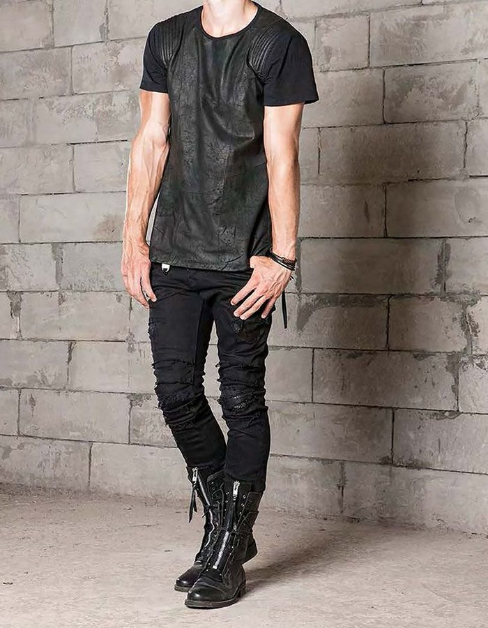 TNBP CHROMOSOME LEATHER FRONT TEE