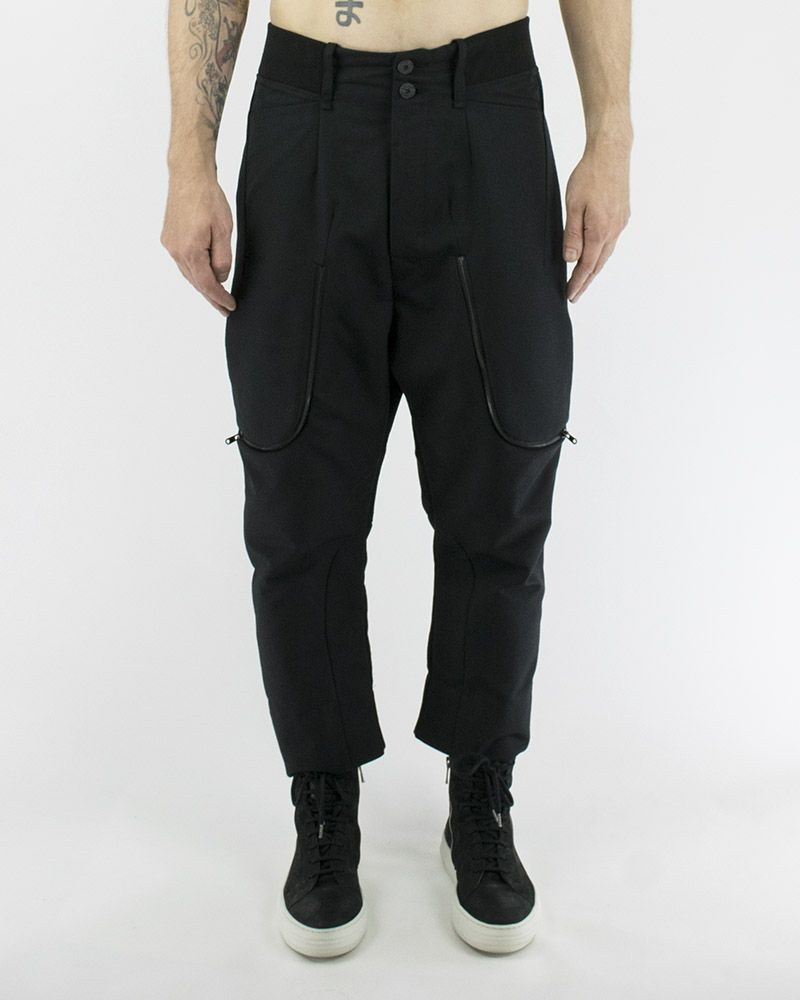 WOOL MIX TROUSER W/ ZIPPER DETAIL