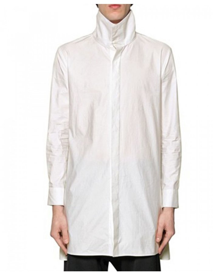 D.GNAK HI NECK SHIRT WITH SIDE ZIP