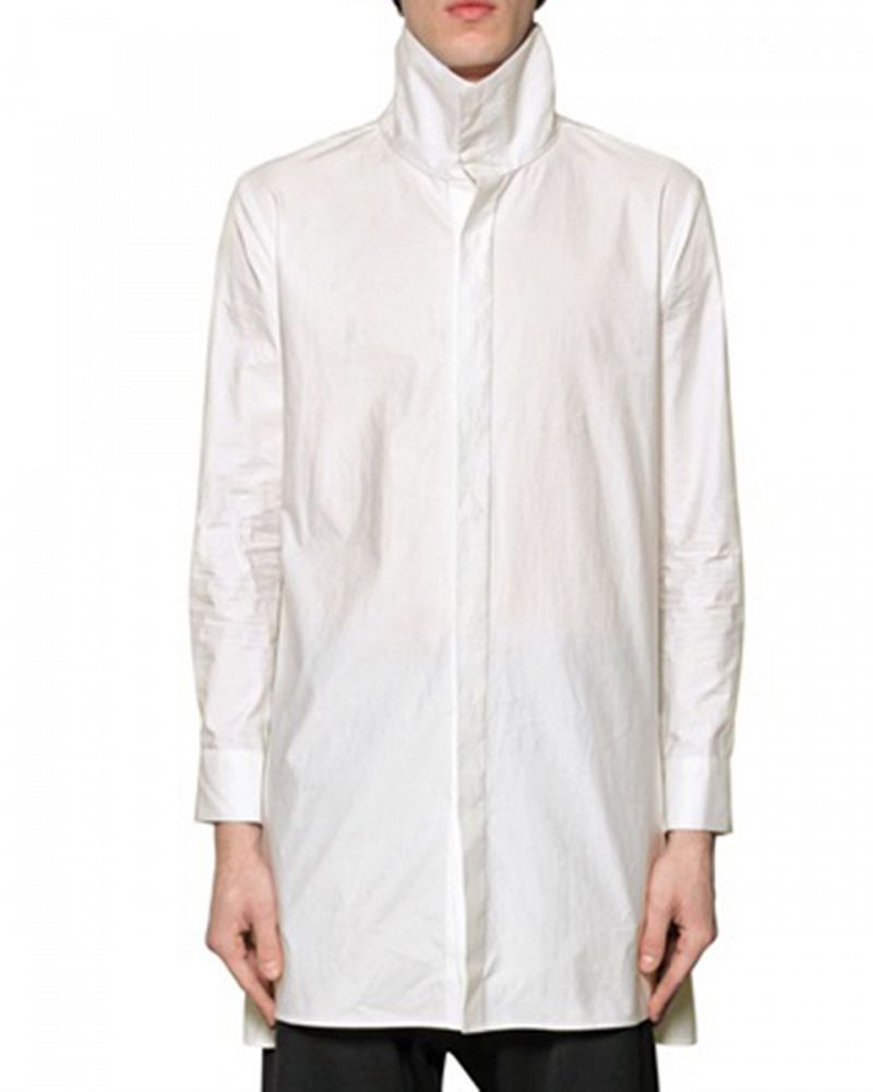 HI NECK SHIRT WITH SIDE ZIP