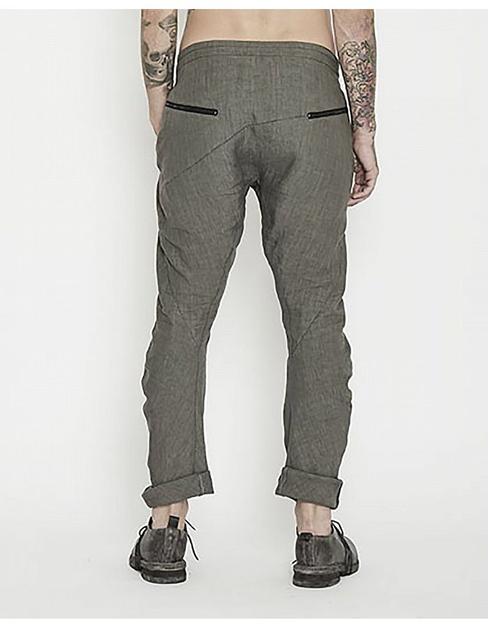 MASNADA ASYMMETRIC FLY PANT -ZIP POCKETS :GRY