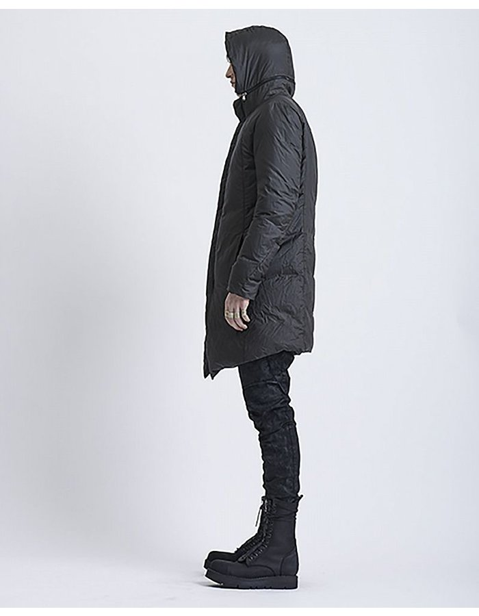 MASNADA DETACHABLE HOOD DOWN COAT BLK