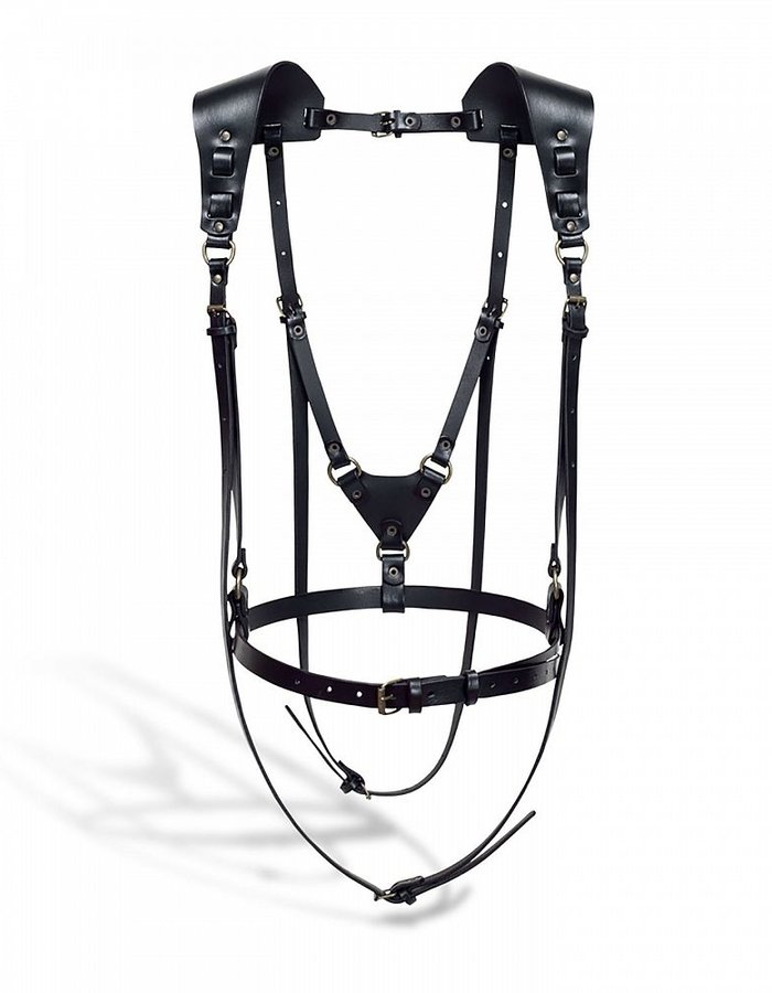 TEO + NG TSEO LEATHER HARNESS /ANTIQUE SILVER