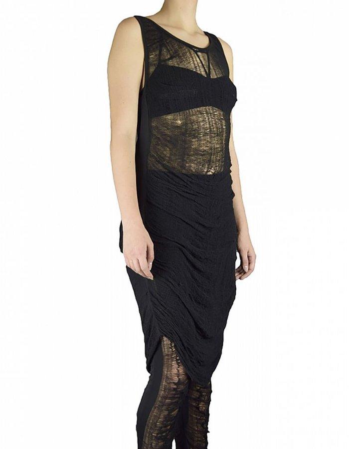 SANDRINE PHILIPPE DEKNITTED TANK DRESS