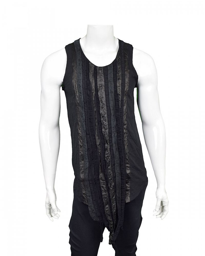 TANK WITH LEATHER BANDS