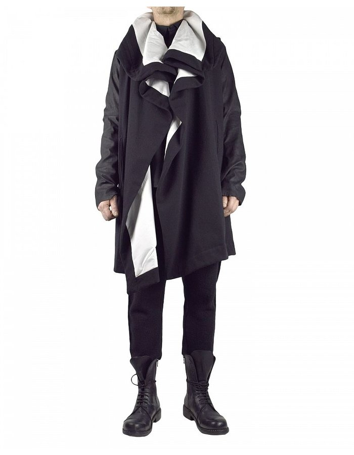 NOSTRA SANTISSIMA ARGADO COAT WITH LEATHER SLEEVES