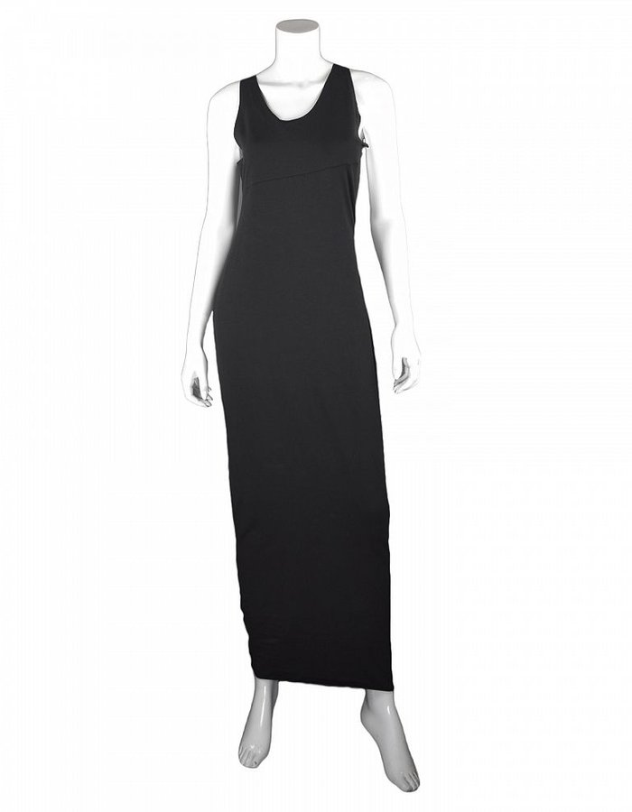 NOSTRA SANTISSIMA COTTON JERSEY OPEN BACK DRESS