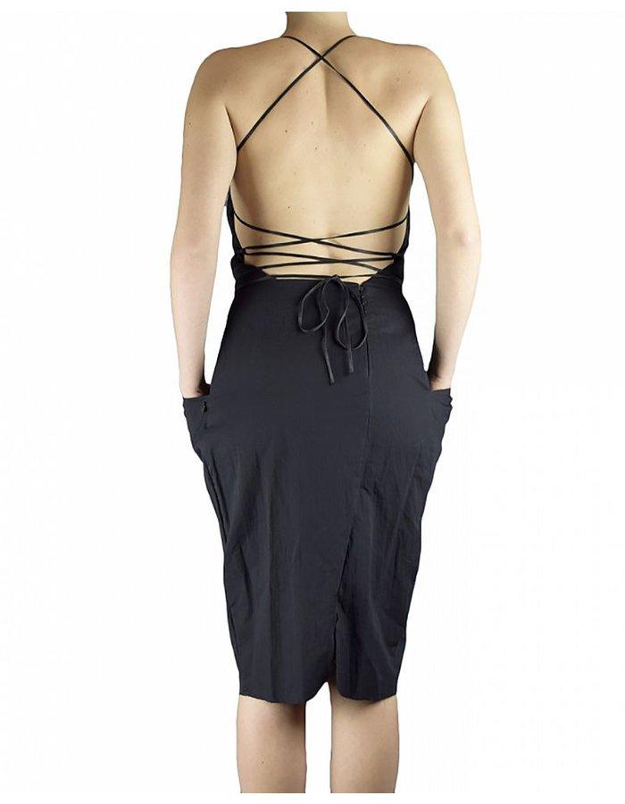 NOSTRA SANTISSIMA LACE UP BACK DRESS