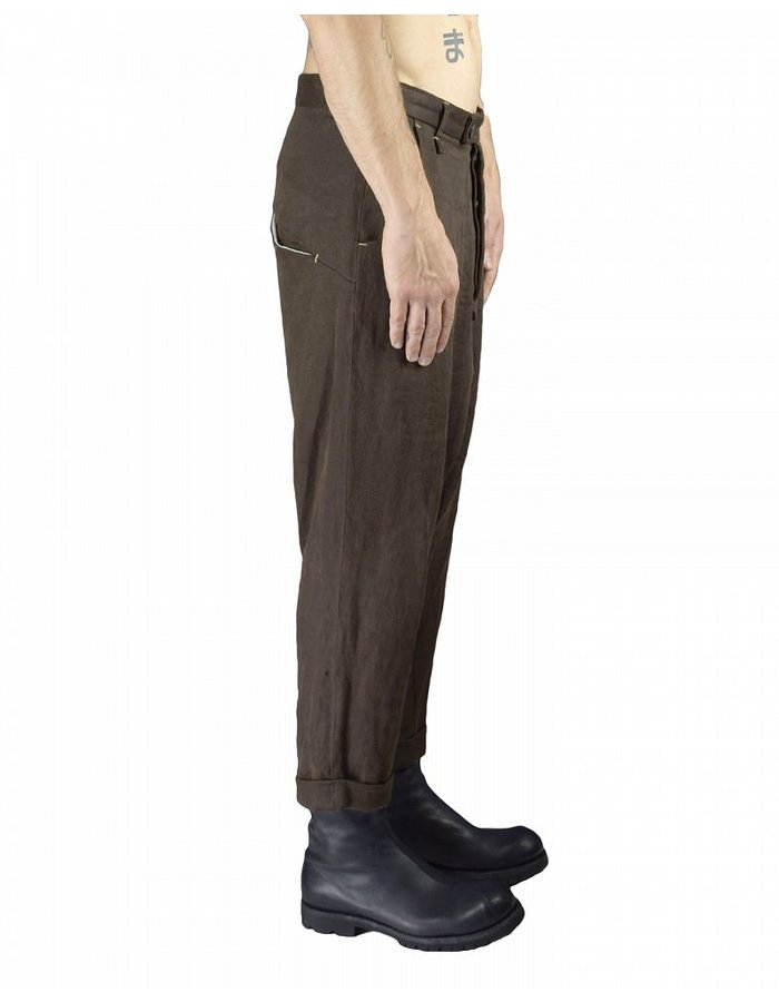 NOSTRA SANTISSIMA LOW CROTCH TROUSER LINEN