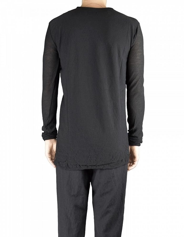 NOSTRA SANTISSIMA TEXTURED KNIT CREW NECK SWEATER