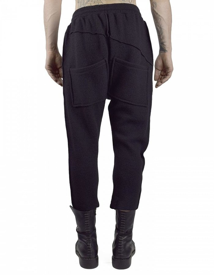 NOSTRA SANTISSIMA WOOL DROP CROTCH PANTS