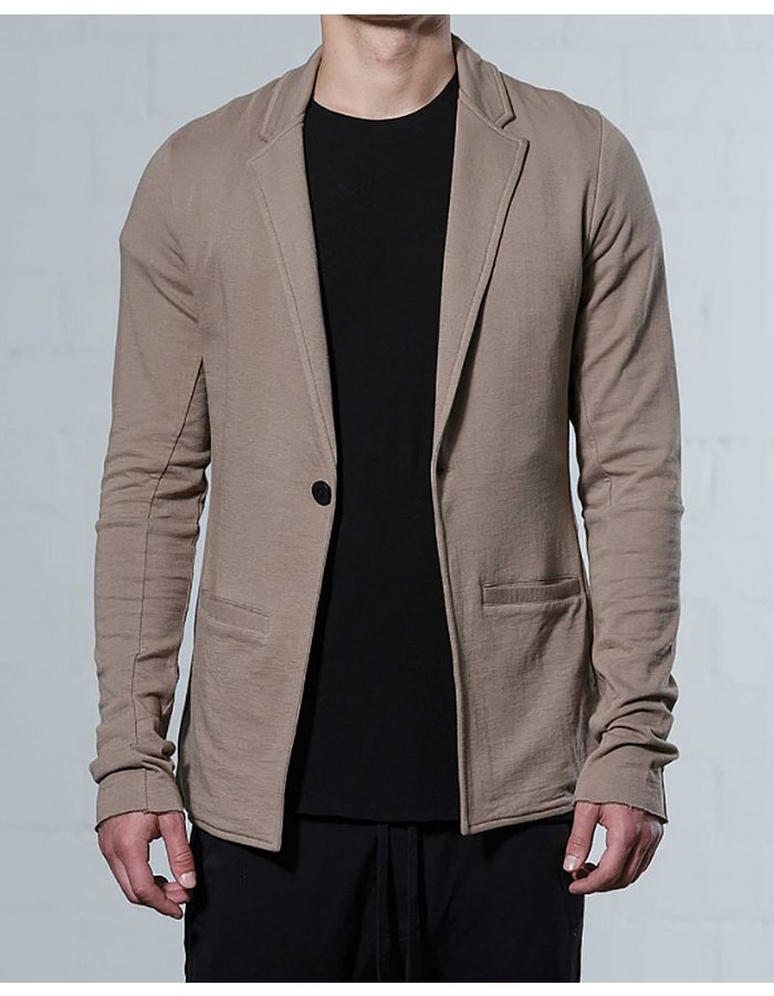 THOM KROM 1 BUTTON COTTON BLAZER