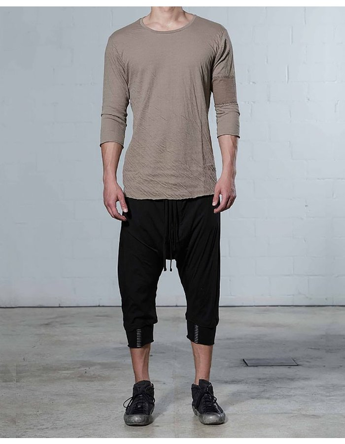 THOM KROM 3/4 SLEEVE TEE WITH STITCH