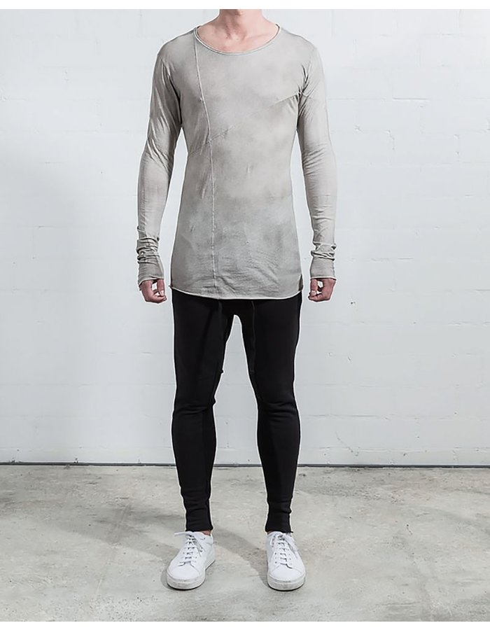 THOM KROM BASIC LONG SLEEVE WITH SEAMS STONE