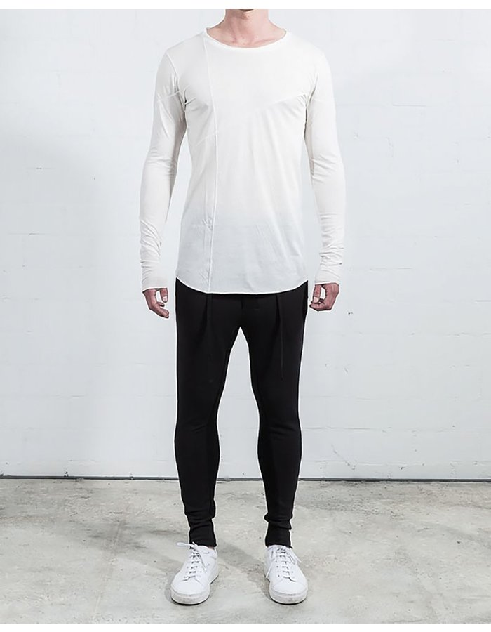THOM KROM BASIC LONG SLEEVE WITH SEAMS WHT