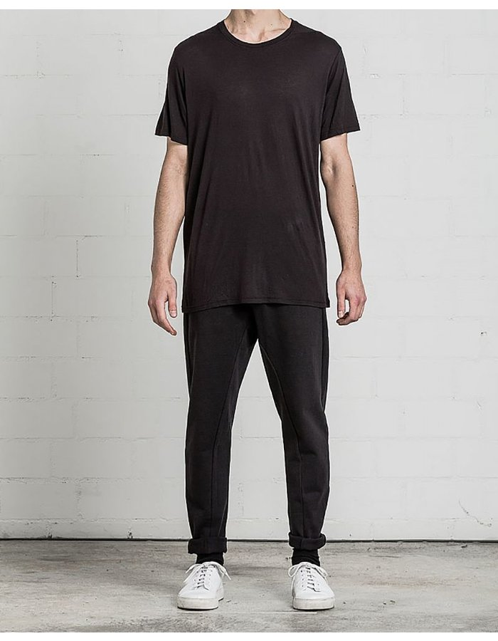 THOM KROM CLASSIC TSHIRT WITH SEAMING BLK
