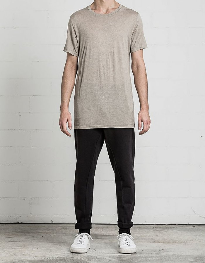 THOM KROM CLASSIC TSHIRT WITH SEAMING SAND