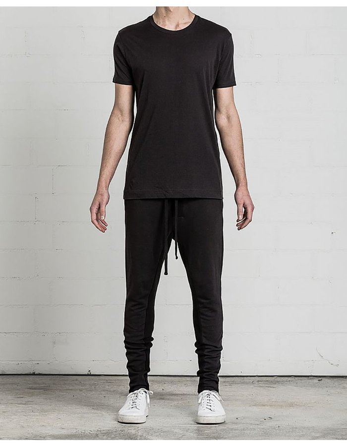 THOM KROM DBL STITCH TSHIRT WITH BACK SEAM BLK