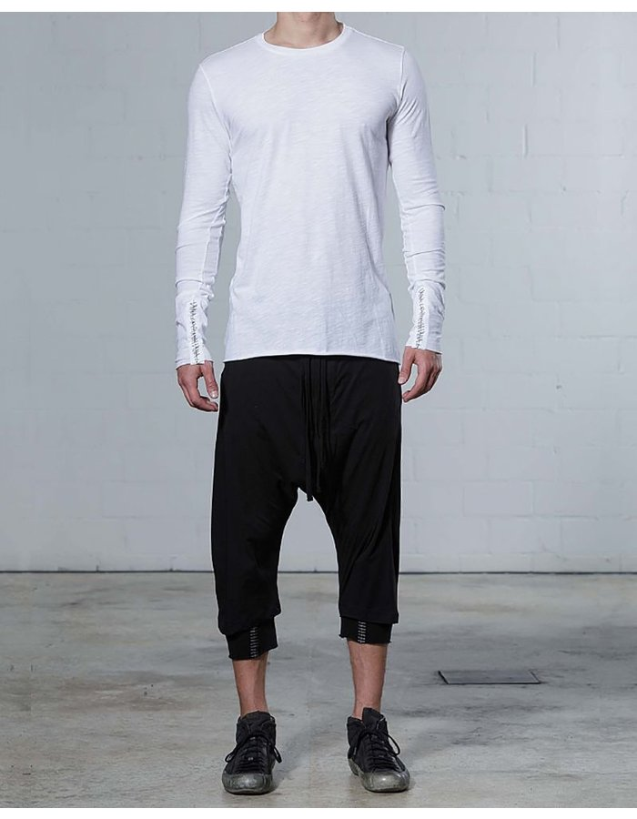 THOM KROM LONG SLV CREW WITH STITCH DETAIL