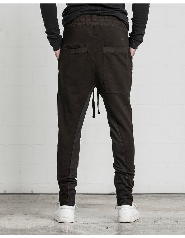 THOM KROM LOW CROTCH SWEAT PANT ZIP POCKET : BROWN