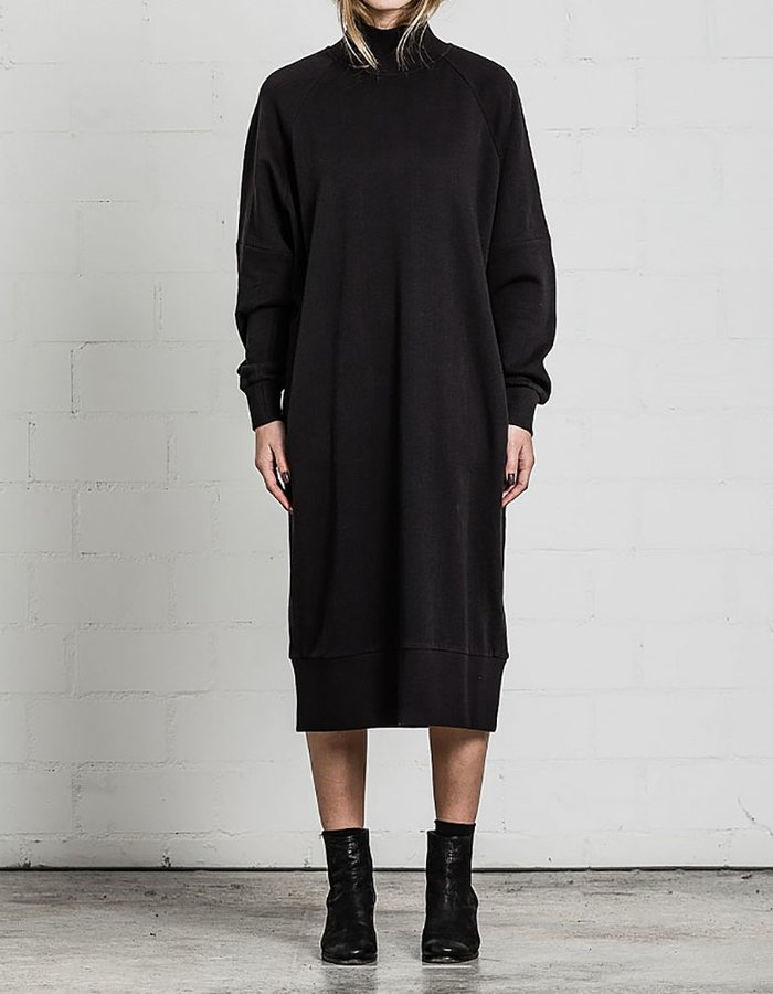 THOM KROM OVERSIZED MIDI SWEAT DRESS WITH RIB CUFFS
