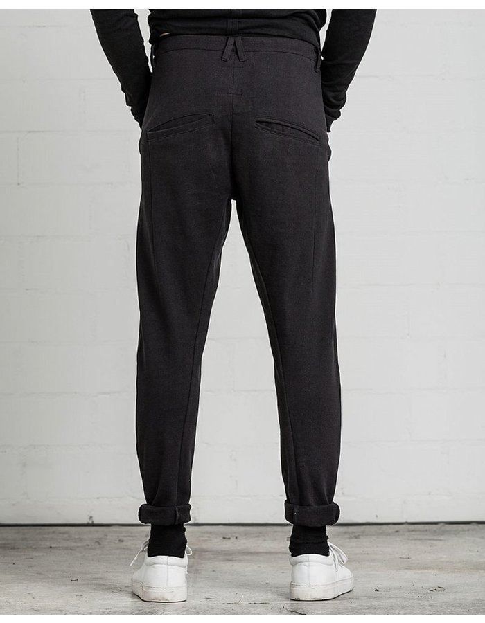 THOM KROM TAILORED SWEAT PANT SEAM DETAIL BLK