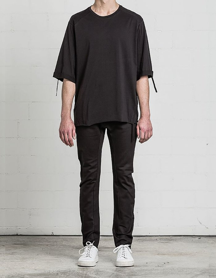 THOM KROM T-SHIRT WITH PIPING DETAIL