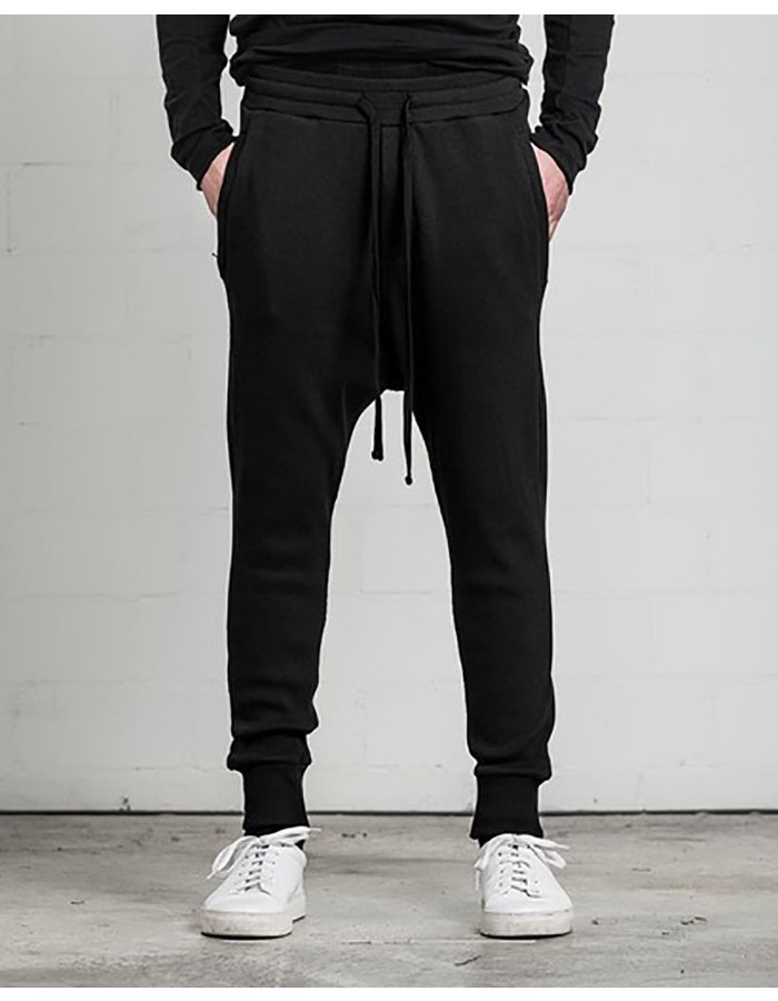 THOM KROM LOW CROTCH ZIP POCKETS PANT BLK